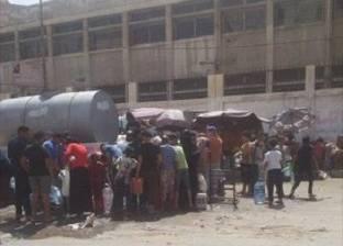 انقطاع المياه عن الشيخ زويد لليوم السادس