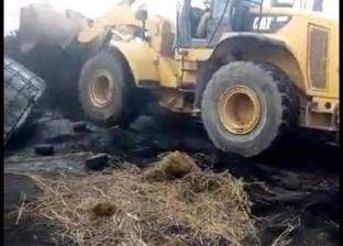 إزالة مكمورة فحم على مساحة 600 متر بمركز بدر في البحيرة