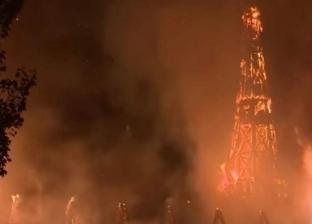 بالفيديو| مشاهد مروعة.. صاعقة تحرق كنيسة في الولايات المتحدة