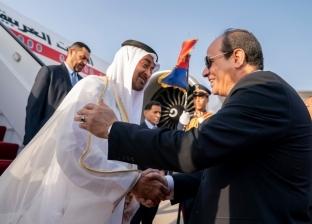 السيسي وبن زايد يبحثان التصدي لتهديد الملاحة والمنشآت النفطية الخليجية