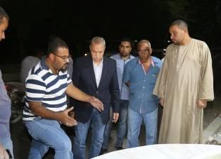 """""""الهجان"""" يتابع أعمال إحلال وتجديد 6 نوافير بميادين وشوارع مدينة قنا"""