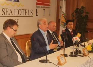 فودة يعقد مؤتمرا صحفيا مع الشركة الألمانية صاحبة أولى الرحلات السياحية إلى شرم الشيخ