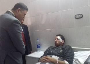 """رئيس مدينة كفر الدوار يزور مصابي حادث """"أتوبيس الإسكندرية"""""""