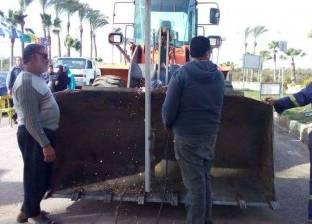 محلية رأس البر تنفذ أعمال صيانة للبوابة الغربية