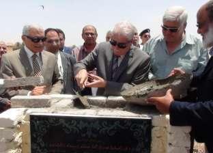 بالصور| فودة يضع حجر الأساس لإنشاء حلقة سمك بمدينة الطور