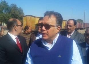 وزير النقل يتفقد سير العمل بمحطة سكك حديد الجيزة
