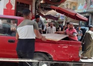 حملات لإزالة الإشغالات وإعاة الانضباط لشوارع أبوتيج