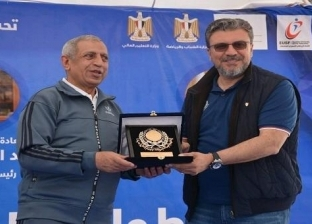 """الأكاديمية البحرية تكرم عمرو الليثي في ختام بطولة """"وطن"""" الرياضية"""