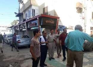 بالصور| غلق معارض سيارات ومقاهي وتشميعها في دمياط