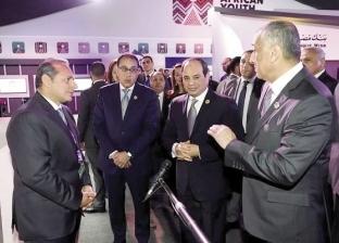 """""""الأهلى المصرى"""" يستعرض تجربته التكنولوجية الرائدة أمام الرئيس السيسى"""