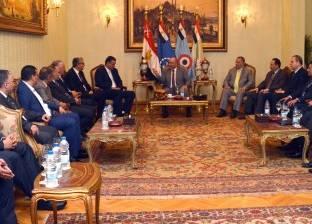 الفريق محمود حجازي يلتقي عضو المجلس الأعلى الليبي والوفد المرافق له