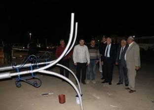 """""""فودة"""" يتفقد طريق السلام وورشة إعادة استخدام أعمدة الإنارة بشرم الشيخ"""