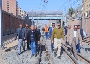 بالصور| وزير النقل يتابع أعمال تطوير محطتي المرج والمرج الجديدة