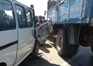 مصرع وإصابة 14 في حادث تصادم أوتوبيس بأبو زنيمة