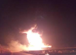 إصابة حارس أمن في حريق بخط إنتاج بترول ببني سويف
