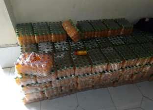 بالصور| ضبط 8200 عبوة عصير داخل مصنع بدون ترخيص في كفر الشيخ