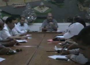 رئيس مدينة المنيا يوجه رؤساء القرى بتكثيف حملات الإزالة