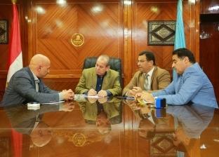 """محافظ كفر الشيخ يبحث مع أعضاء """"النواب"""" مشاكل المواطنين"""