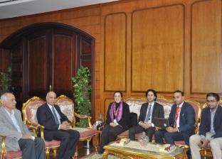 بالصور  جامعة كفر الشيخ تستقبل وفد المجلس الثقافي البريطاني