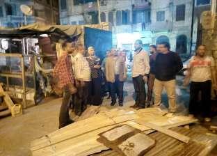 """حي الجمرك في الإسكندرية يشن حملة لرفع الإشغالات بقلعة """"قايتباي"""""""