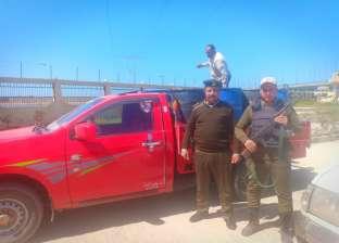 بالصور| ضبط سيارة محملة بـ 70 ألف زريعة أسماك في كفر الشيخ