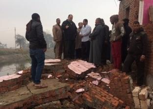 """انهيار منزل وتصدع آخر بسبب أعمال تطهير مجرى """"بحر يوسف"""" بالفيوم"""
