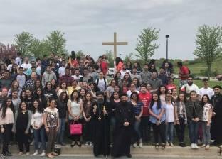 الأنبا كاراس يشارك في مؤتمر شباب المدارس الثانوية بأمريكا