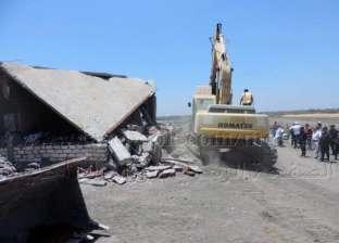 حملات أمنية لإزالة التعديات بمنطقة محور 30 يونيو في بورسعيد