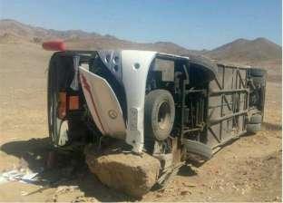 نقل حالتين من المصابين في حادث الأتوبيس السياحي لمستشفى الغردقة