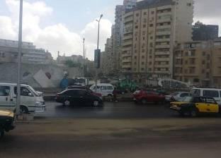 هطول أمطار غزيرة ورياح باردة على الإسكندرية