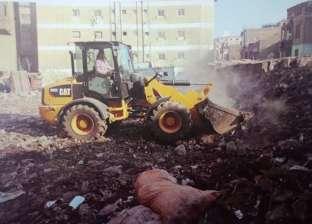 """الجيزة: حملة نظافة بشوارع إمبابة وبولاق الدكرور وزراعة """"جزيرة الجيزي"""""""