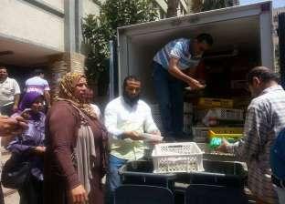 """ضبط سيارة نصف نقل محملة بدواجن ولحوم مجمدة """"فاسدة"""" في المنصورة"""