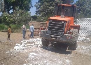 إزالة 394 حالة تعدٍ على الأراضي الزراعية وأملاك الدولة بالشرقية
