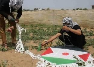 """""""معا"""" الفلسطينية: إطلاق أكبر طائرة ورقية باتجاه المستوطنات الإسرائيلية"""
