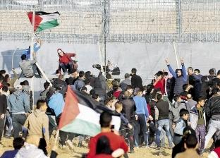 """الفلسطينيون يتوافدون على مسيرات العودة في جمعة """"التراحم والتكافل"""""""