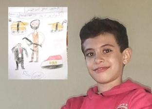 """""""المنسي وعلم مصر"""".. الطفل أحمد يحيي الشهداء على طريقته بعد الحلقة 28 من الاختيار"""