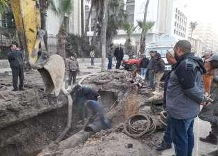"""انقطاع المياه عن قريتي """"شاوة والبقلية"""" في الدقهلية نتيجة كسر ماسورة"""
