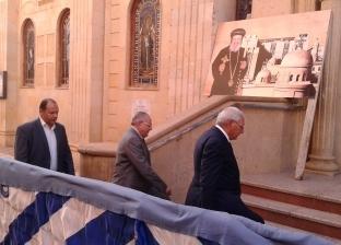 وصول محافظ الدقهلية لحضور مراسم الأربعين للأنبا بيشوي في دير دميانة