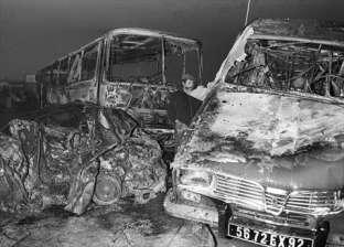 مصرع 4 وإصابة 8 في حادث تصادم سيارتين بنفق سنور في بني سويف