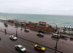 هطول أمطار خفيفة على مدينة الإسكندرية