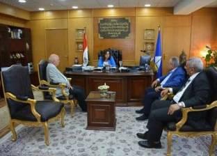 محافظ دمياط تستقبل ممثلي جامعة حورس لبحث سبل التعاون المشترك