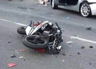 إصابة شرطيين انقلبت بهم دراجة بخارية في المنيا