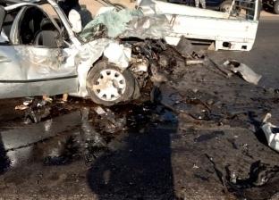 تصادم 3 سيارات في طريق صلاح سالم.. وإعادة الحركة المرورية