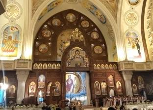 نعي لشهداء الكنيسة على جدران كاتدرائية العباسية تخليدا لذكراهم