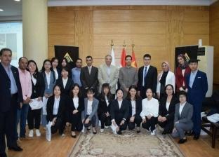 """وفد طلاب جامعة """"بكين"""" للغابات يختتم زيارته لجامعة بنها"""