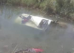 مصرع رقيب شرطة انقلبت سيارته في مصرف زراعي بالدقهلية