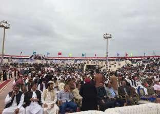 انطلاق مؤتمر جماهيري حاشد بمطروح للدعوة للمشاركة في الانتخابات