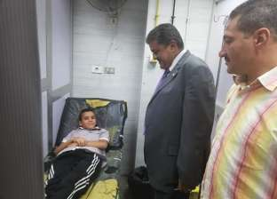 مدير أمن جامعة بنها يتفقد المستشفى الجامعي