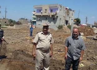 إزالة التعديات على أرض محطة كهرباء صان الحجر بالشرقية