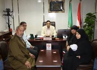 سكرتير عام المنوفية يستقبل أسرة الشهيد رقيب عبدالحميد محمود